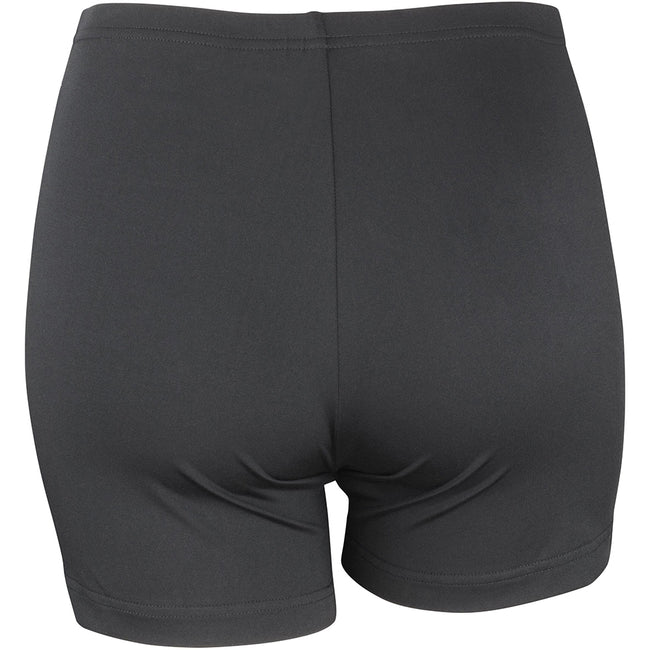 Noir - Back - Spiro Softex - Short de sport stretch - Femme