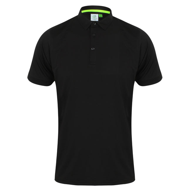 Noir - Front - Tombo - Polo sport - Homme