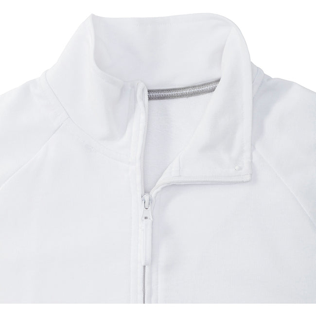 Blanc - Front - Russell HD - Pull à col zippé - Homme
