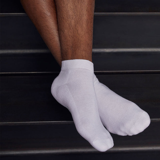 Blanc - Back - Fruit Of The Loom - Chaussettes de sport basses (Lot de 3) - Homme