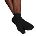 Gris chiné-Noir-Blanc - Front - Fruit Of The Loom - Chaussettes de sport basses (Lot de 3) - Homme
