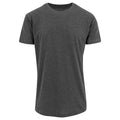 Noir - Front - Build Your Brand - T-shirt long à manches courtes - Homme