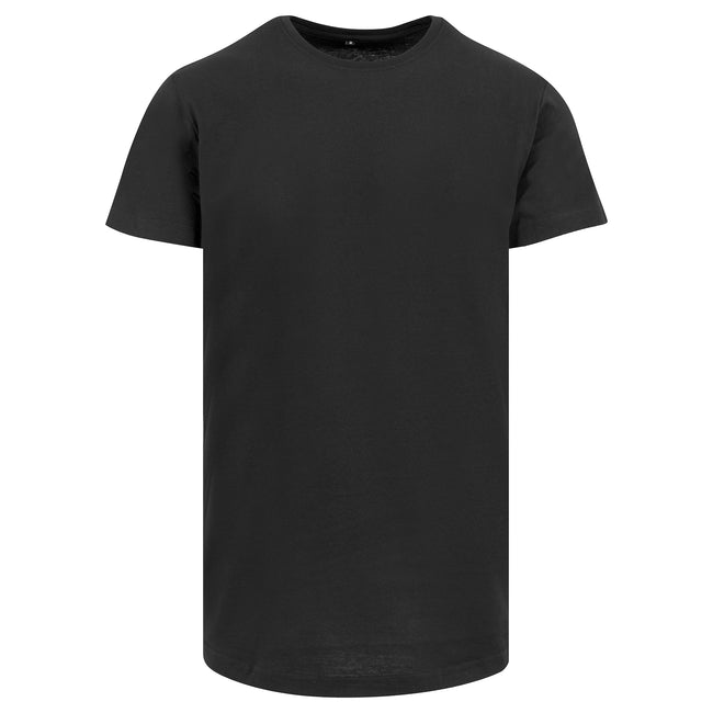 Gris - Front - Build Your Brand - T-shirt long à manches courtes - Homme