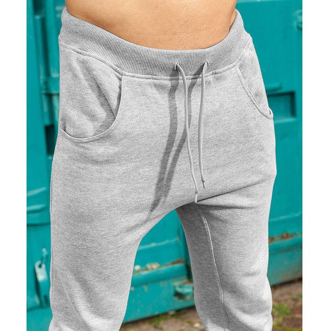 Gris - Back - Build Your Brand - Pantalon de sport à entrejambe bas - Homme