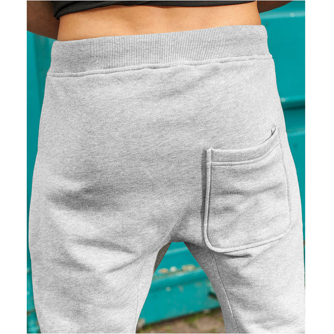 Gris - Side - Build Your Brand - Pantalon de sport à entrejambe bas - Homme