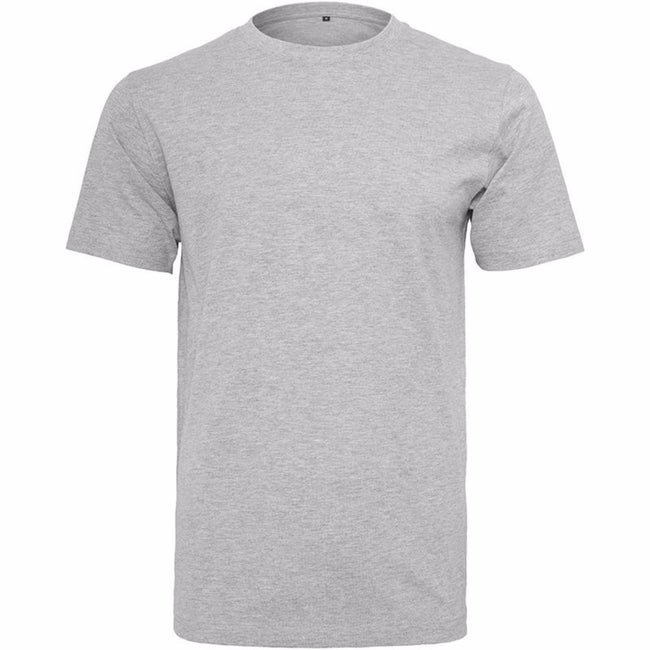 Gris - Front - Build Your Brand - T-shirt col rond manches courtes - Homme