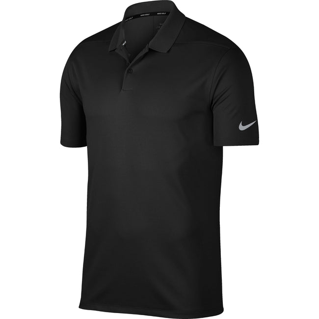 Noir - gris - Front - Nike - Polo VICTORY - Homme