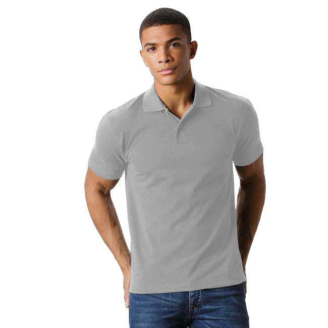 Gris claire - Back - Fruit Of The Loom - Polo - Homme