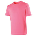 Rose électrique - Front - Just Cool - T-shirt performance uni - Homme