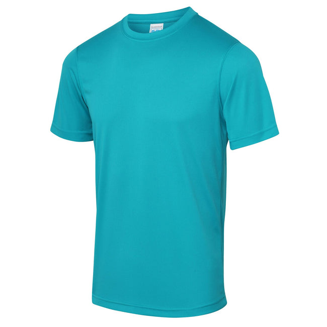 Bleu turquoise - Front - Just Cool - T-shirt performance uni - Homme