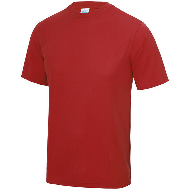 Rouge feu - Side - Just Cool - T-shirt performance uni - Homme