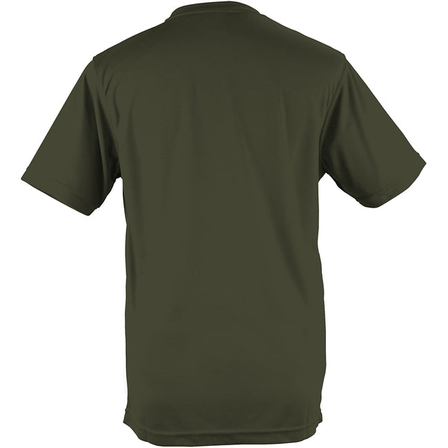 Olive - Back - Just Cool - T-shirt performance uni - Homme