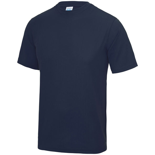 Bleu marine Oxford - Side - Just Cool - T-shirt performance uni - Homme