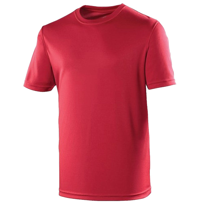 Rouge piment - Front - Just Cool - T-shirt performance uni - Homme
