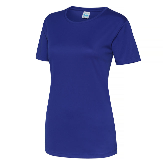 Bleu marine Oxford - Side - Just Cool - T-shirt sport uni - Femme