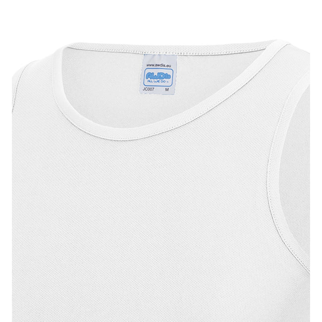 Blanc arctique - Back - Débardeur sport uni Just Cool - Homme