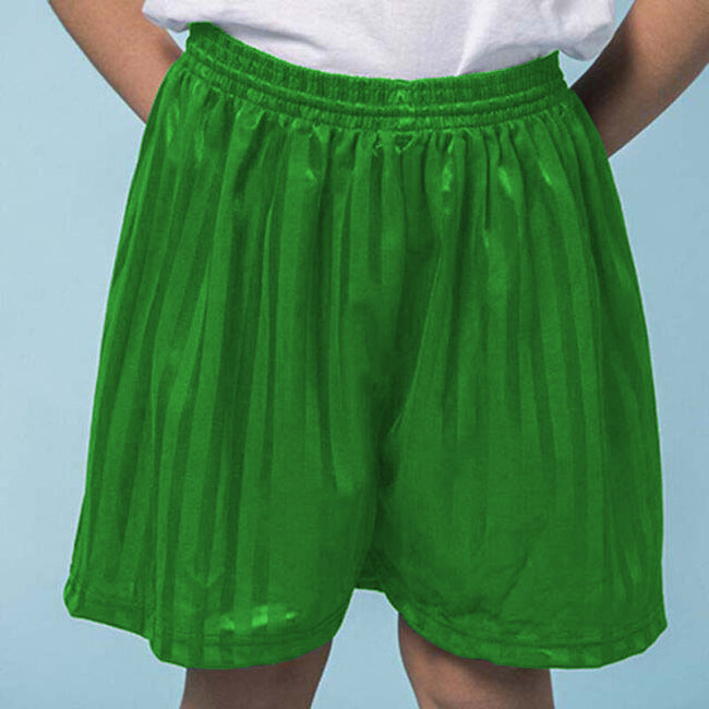 Vert tendre - Back - Maddins - Short sport rayé - Enfant