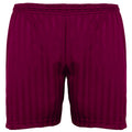Bordeaux - Front - Maddins - Short sport rayé - Enfant