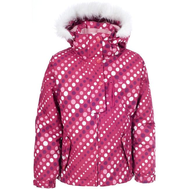 Rose - Front - Trespass Ameera - Veste de ski imperméable - Fille