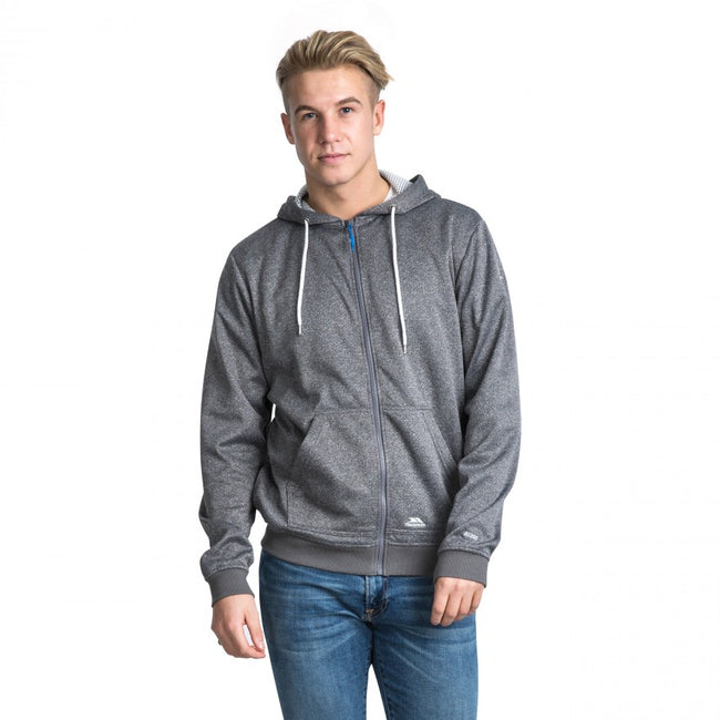 Gris marne - Pack Shot - Trespass Goodman - Sweat à capuche et fermeture zippée - Homme