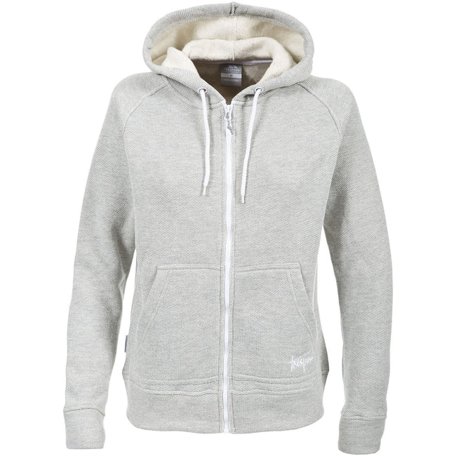 Gris - Front - Trespass Thurman - Sweat à capuche et fermeture zippée - Femme