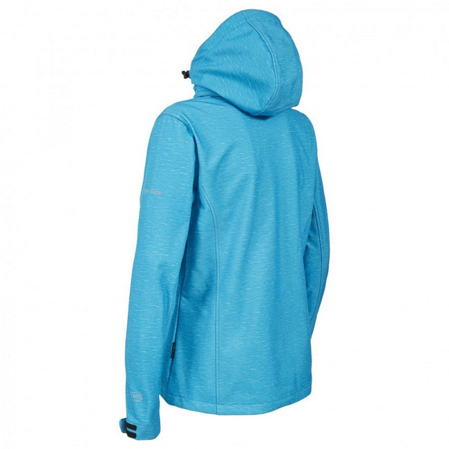 Bleu marne - Back - Trespass Paulina - Veste softshell imperméable - Femme