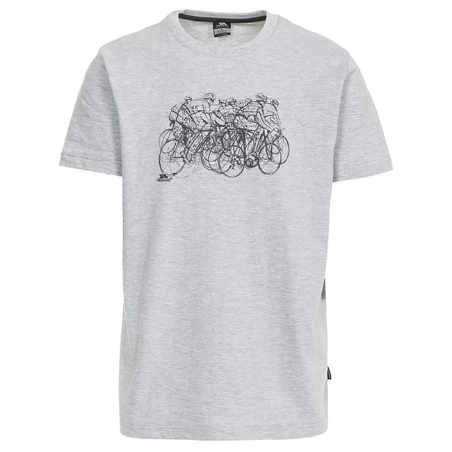 Gris - Front - Trespass Wicky - T-shirt - Homme