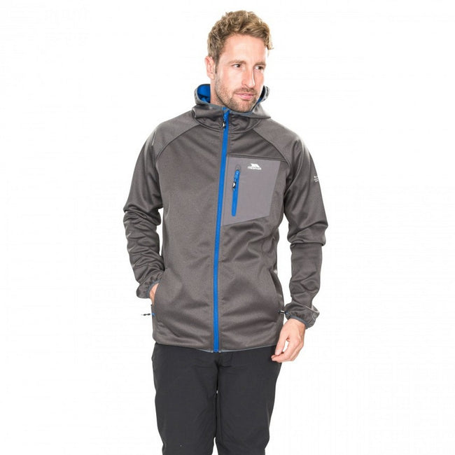 Gris - Side - Trespass - Veste Softshell DAYTON - Homme