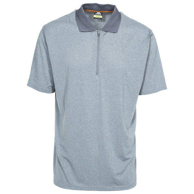 Gris carbone chiné - Front - Trespass Maraba - Polo - Homme