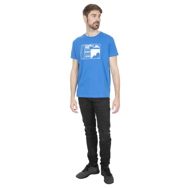Bleu - Back - Trespass - T-shirt SCAFEL - Homme