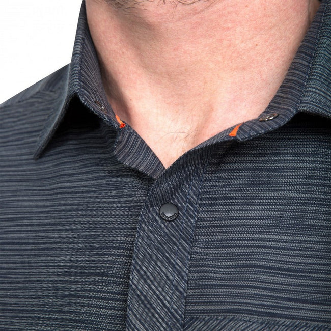 Gris chiné - Close up - Trespass - Chemise MATADI - Hommes