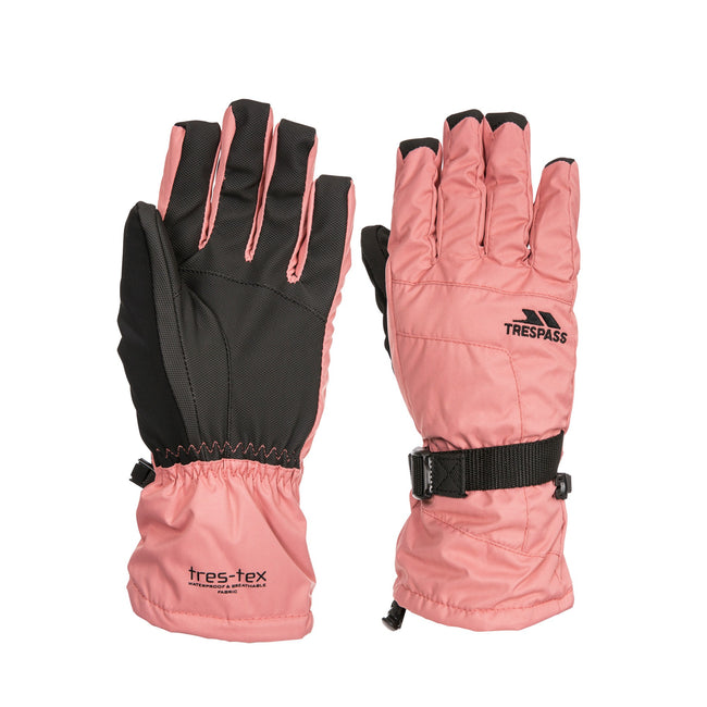 Rose - Front - Trespass - Gants de ski EMBRAY - Femme