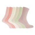 Assortiment rose - Front - Healthy - Chaussettes en coton (Lot de 6 paires) - Femme