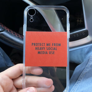 """Heavy Social Media Use"" iPhone Case - Dreamer Store"