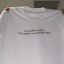 "Load image into Gallery viewer, ""Is It Worth It?"" T-Shirt - Dreamer Store"
