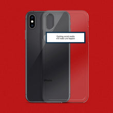 "Load image into Gallery viewer, ""Quit Social Media"" iPhone Case - Dreamer Store"