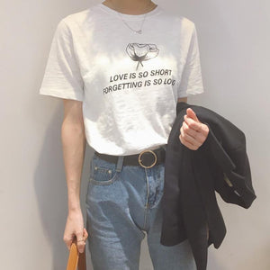 """Love Is So Short"" T-Shirt - Dreamer Store"
