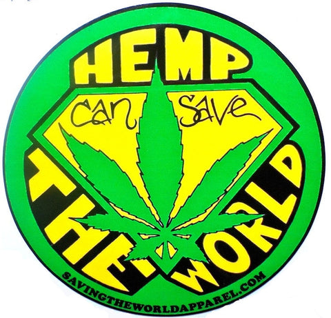 Hemp Can Save The World Sticker