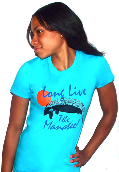 save the manatee t shirt blue