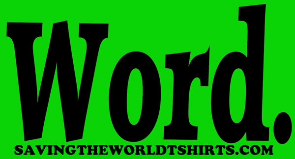 word stickers green