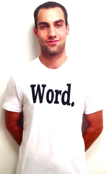 word t shirt white