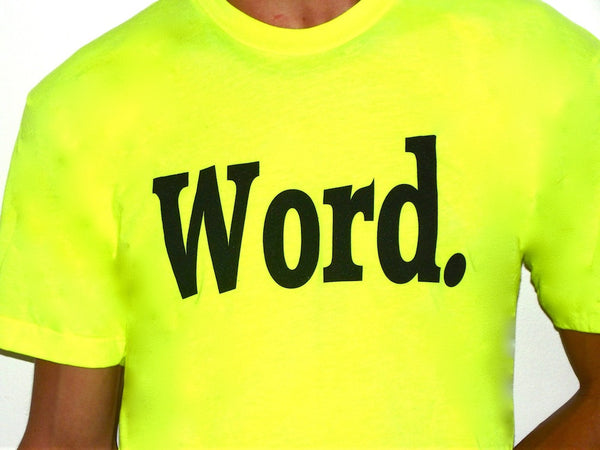 word t shirt yellow