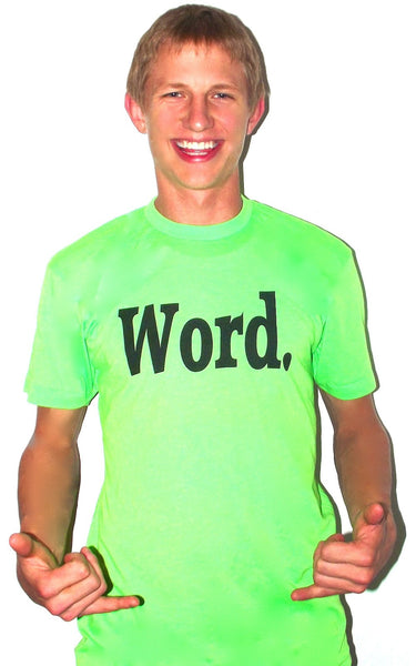 word t shirt green