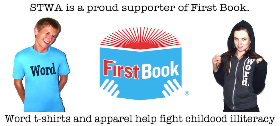 word t shirts support First Book