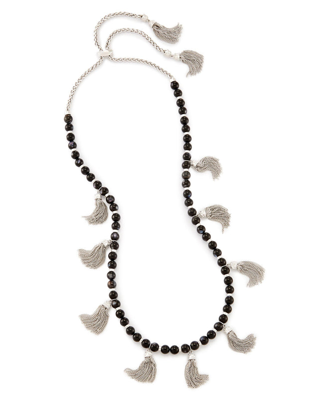 Kendra Scott Vanina Long Necklace In Black Pearl