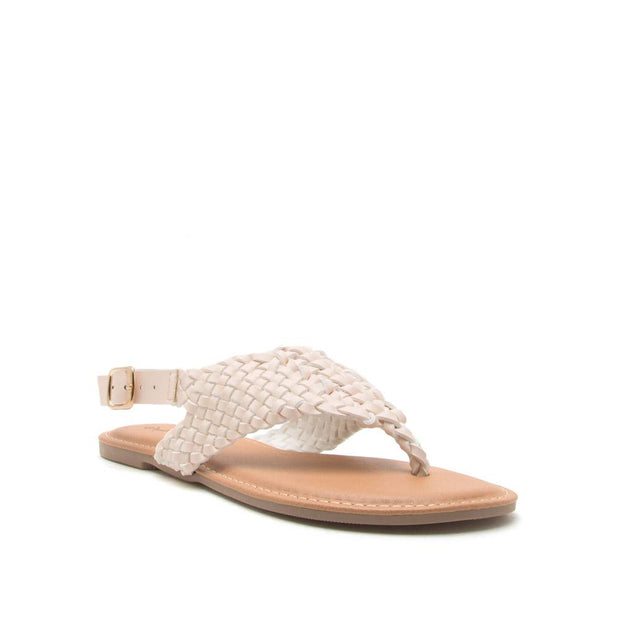 Archer Nude Braided Gladiator Sandal