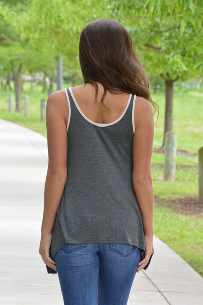 If You Wait Charcoal Tank Top