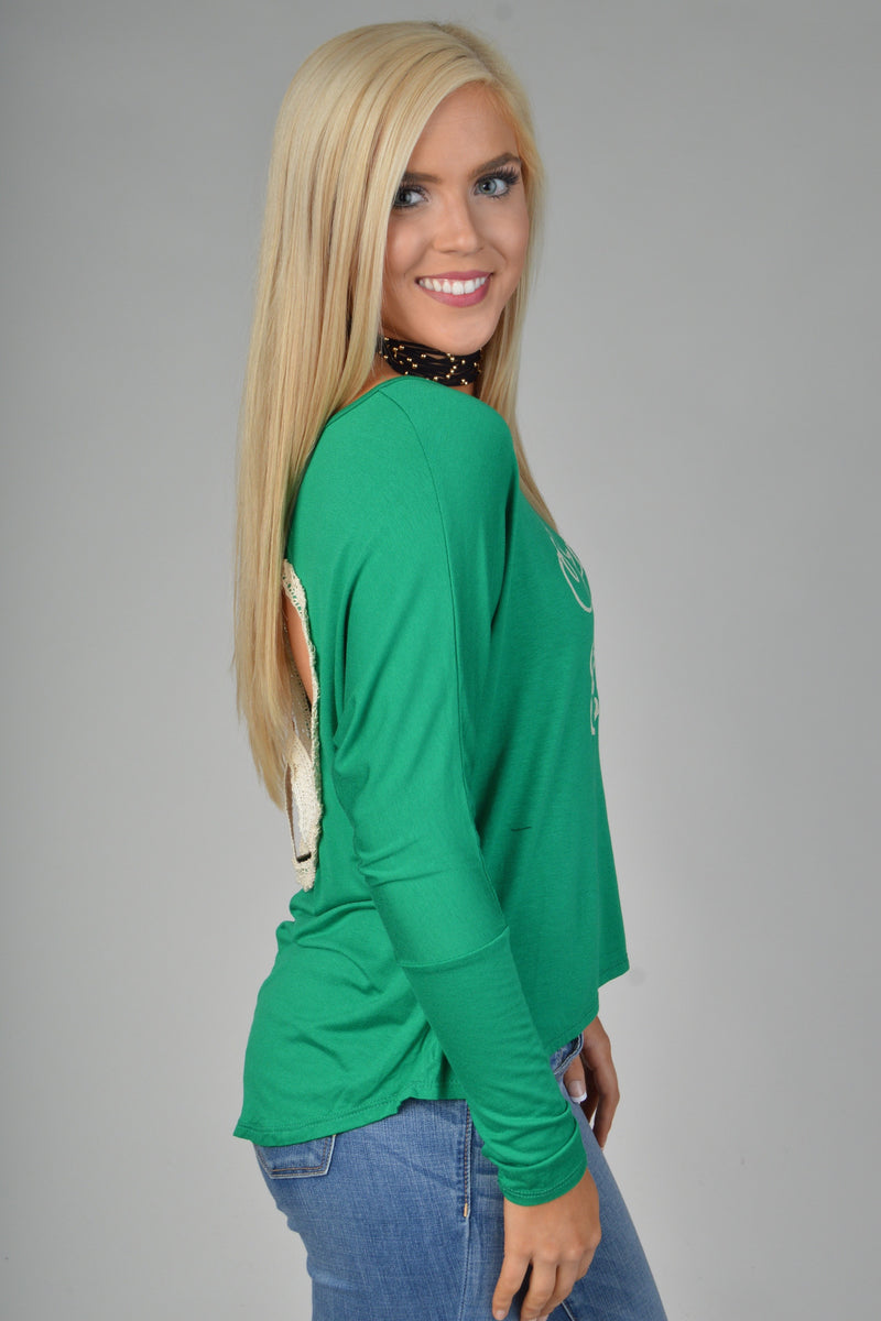 "Green ""Peace On Earth"" Top"