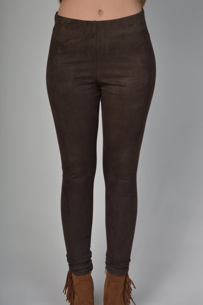 Mud Pie Brown Tyler Pull-On Pant