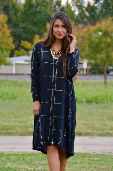 Knot Sisters Peterson Plaid Shirt Dress